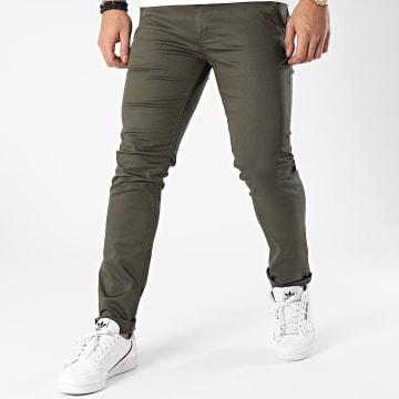 Black Needle - Pantalon Chino 1011 Vert Kaki