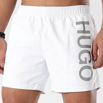 HUGO - Short De Bain Abas 50429307 Blanc Argenté