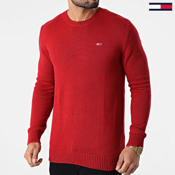 Tommy Jeans - Pull Essential 8801 Rouge