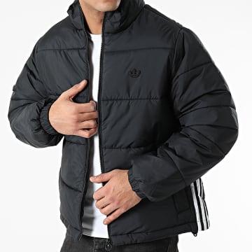 Adidas Originals - Doudoune A Bandes Pad Stand GE1341 Noir