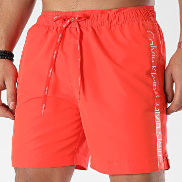 Calvin Klein - Short De Bain A Bandes Medium Drawstring 0169 Orange