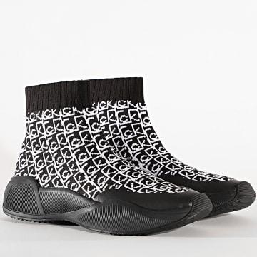 Calvin Klein - Baskets Chaussettes Femme 0130 Black White