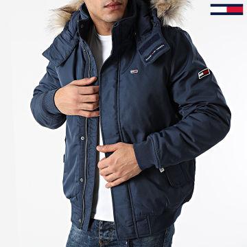 Tommy Jeans - Blouson Capuche Fourrure Tech 8758 Bleu Marine