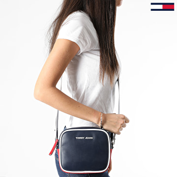 Tommy Jeans - Sacoche Femme PU Crossover 8959 Bleu Marine Rouge