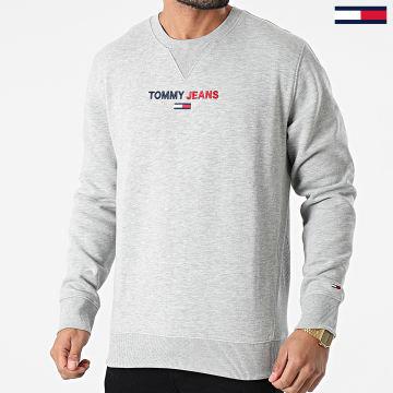Tommy Jeans - Sweat Crewneck Linear Logo 1072 Gris Chiné