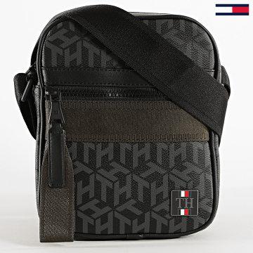 Tommy Hilfiger - Sacoche Essential Mini Reporter 6503 Noir Gris Vert Kaki