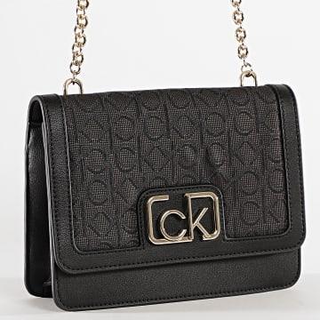 Calvin Klein - Sac A Main Femme Flap 7107 Noir Doré
