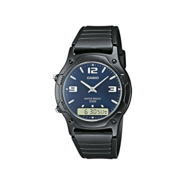 Casio - Montre Collection AW-49HE-2AVEG Noir Bleu Marine