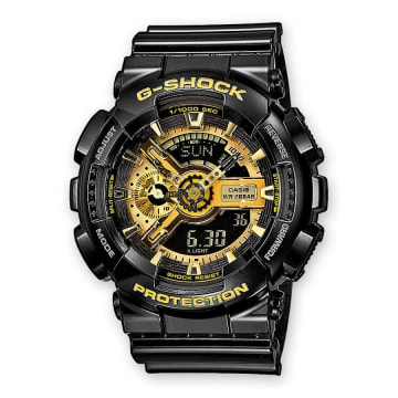 Casio - Montre G-Shock GA-110GB-1AER Noir Or