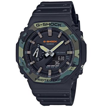 Casio - Montre G-Shock GA-2100SU-1AER Noir Camo