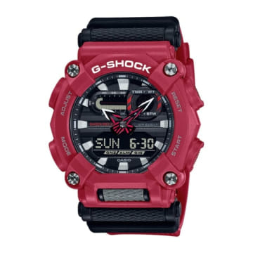 Casio - Montre G-Shock GA-900-4AER Noir Rouge