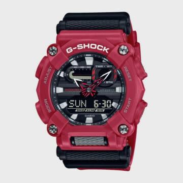Casio - Montre G-Shock GA-900-4AER Noir Rouge