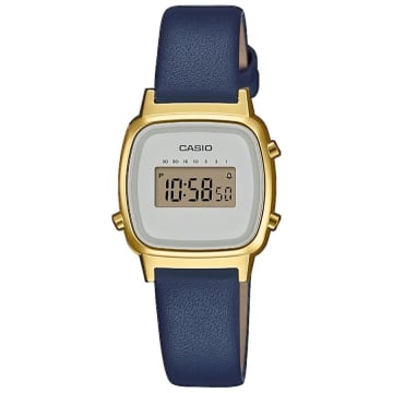 Casio - Montre Femme Collection LA670WEFL-3EF Bleu Marine Doré