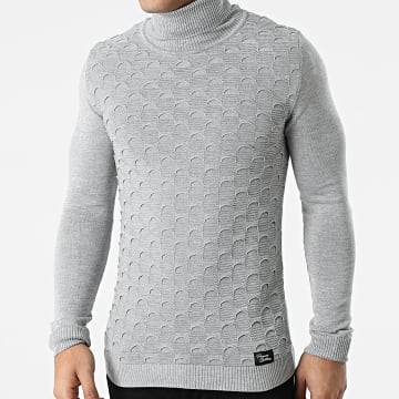 Paname Brothers - Pull Col Roulé PNM-212 Gris