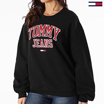 Tommy Jeans - Sweat Crewneck Femme Collegiate Logo 8981 Noir