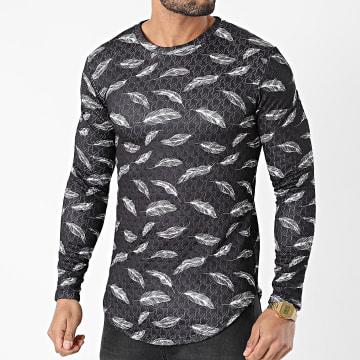 Frilivin - Tee Shirt Manches Longues U2371 Noir