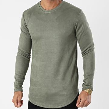 Frilivin - Tee Shirt Manches Longues 15076 Vert Kaki