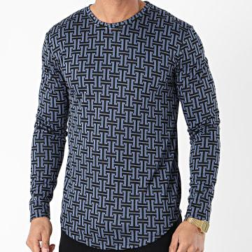 Frilivin - Tee Shirt Manches Longues 15062 Bleu Marine
