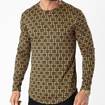 Frilivin - Tee Shirt Manches Longues 15062 Jaune