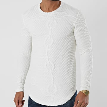 Frilivin - Tee Shirt Manches Longues U2394 Blanc