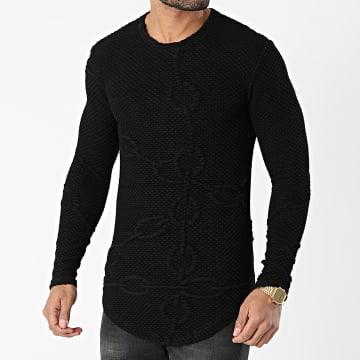 Frilivin - Tee Shirt Manches Longues U2394 Noir