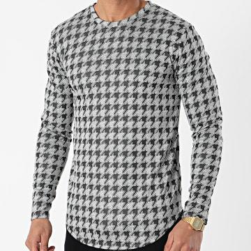 Frilivin - Tee Shirt Manches Longues 15105 Gris Chiné