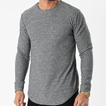 Frilivin - Tee Shirt Manches Longues 15096 Gris Chiné