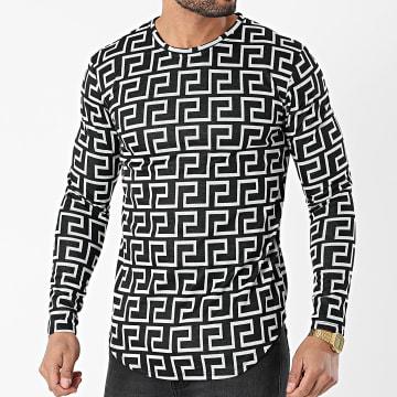 Frilivin - Tee Shirt Manches Longues 15063 Gris Chiné