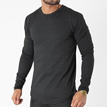 Frilivin - Tee Shirt Manches Longues Oversize 15106 Noir Gris
