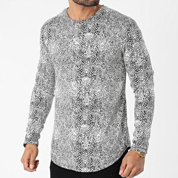 Frilivin - Tee Shirt Manches Longues Oversize 15100 Blanc Noir