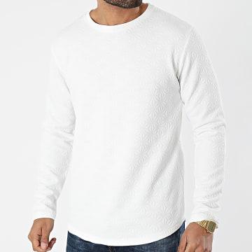 Frilivin - Tee Shirt Manches Longues Oversize 93115 Blanc
