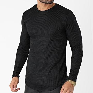 Frilivin - Tee Shirt Manches Longues Oversize 15078 Noir
