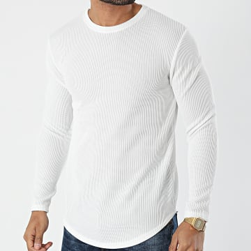 Frilivin - Tee Shirt Manches Longues Oversize 15078 Blanc