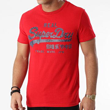 Superdry - Tee Shirt VL Rising Sun M1010545A Rouge