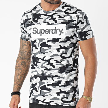 Superdry - Tee Shirt Classic M1010547A Gris Camouflage