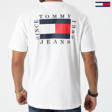 Tommy Jeans - Tee Shirt TJM Box Flag 1014 Blanc