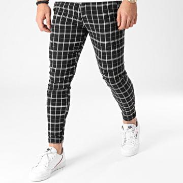 Frilivin - Pantalon Carreaux 1853 Noir Blanc
