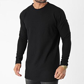Frilivin - Tee Shirt Manches Longues Oversize 5532 Noir