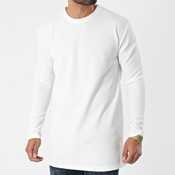Frilivin - Tee Shirt Manches Longues Oversize 5532 Blanc