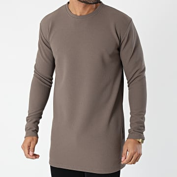Frilivin - Tee Shirt Manches Longues Oversize 5532 Taupe