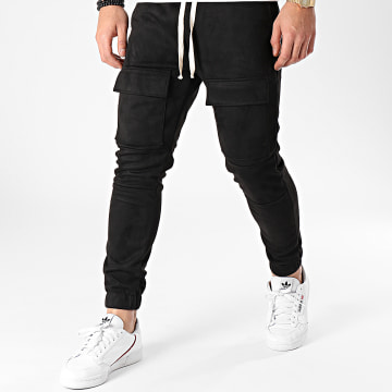 Frilivin - Pantalon Jogging Suédine 25076 Noir