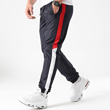 LBO - Pantalon Jogging Tricolore A Bandes 0041 Bleu Marine