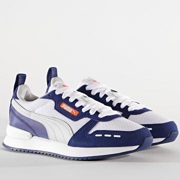 Puma - Baskets Femme R78 JR 373616 White Gray Elektro Blue