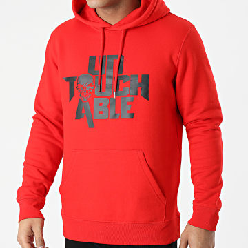 Untouchable - Sweat Capuche Logo Rouge Noir