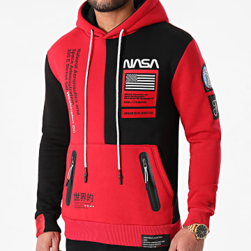 Final Club - Sweat Capuche Nasa Half Colors Limited Edition Noir Rouge