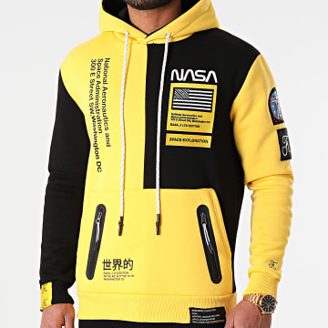 Final Club - Sweat Capuche Nasa Half Colors Limited Edition Noir Jaune