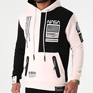 Final Club - Sweat Capuche Nasa Half Colors Limited Edition Noir Rose Pale