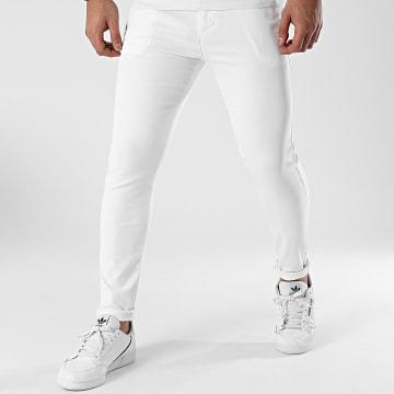 LBO - Pantalon Chino Skinny 1356 Blanc