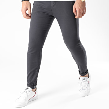 LBO - Pantalon Chino Skinny 1441 Gris Anthracite