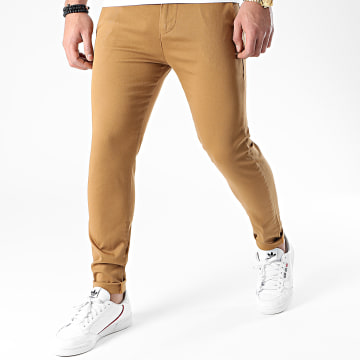 LBO - Pantalon Chino Skinny 1444 Camel